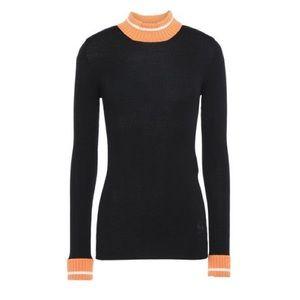 Loewe Mock Neck Wool Ribbed Sweater